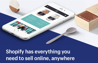 Sell online through Shopify